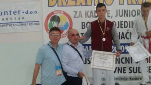 Dejan Vitor iz Karate-kluba Miloš Delić Bratunac,