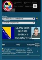 Dejan Vitor na Svjetskom prvenstvu u Španiji