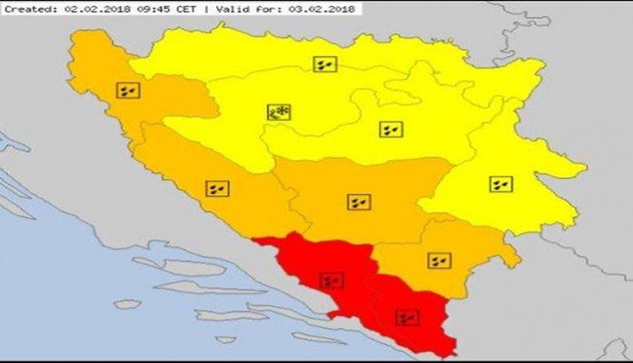 Izdato upozorenje za obilne padavine