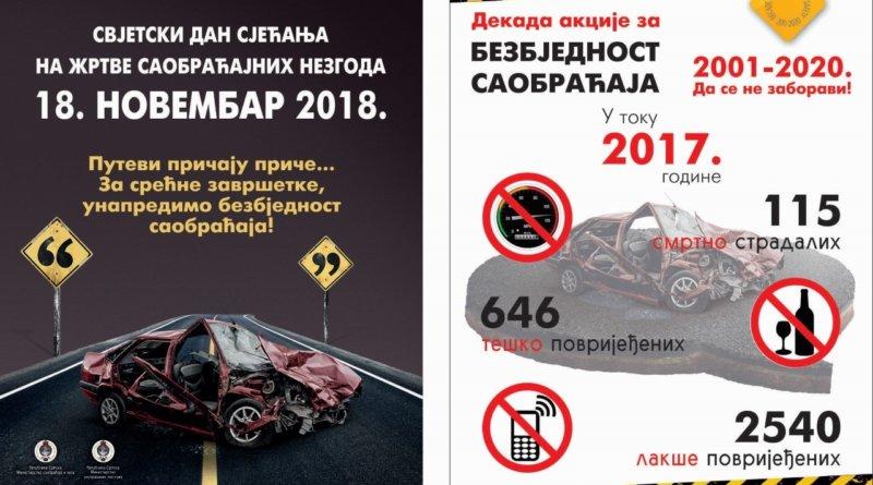 Svjetski dan sjecanja na zrtve saobracajnih nezgoda